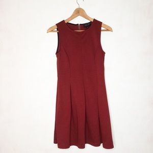 Rome + Juliet Couture S Maroon Sleeveless Dress